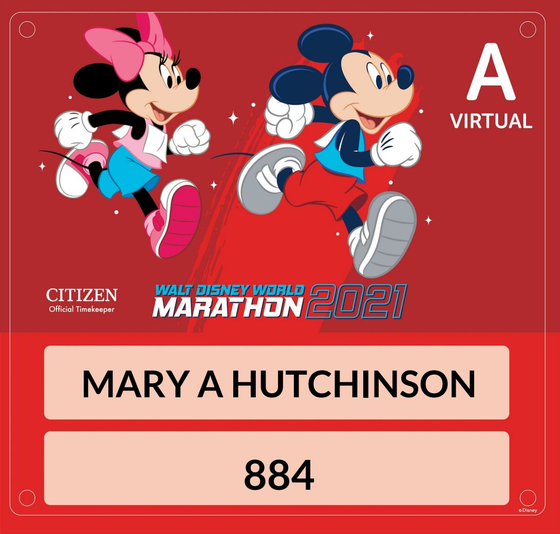 Run Disney Marathon – 2021 Goes Virtual
