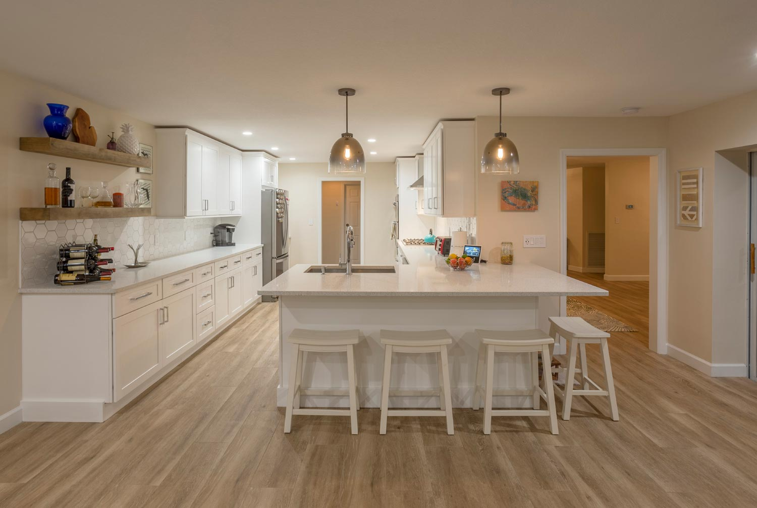 Rustic Kitchen Remodel in Palm Harbor Florida by Golden Construction Services