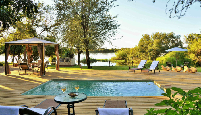 Public area overlooking the Chobe River
