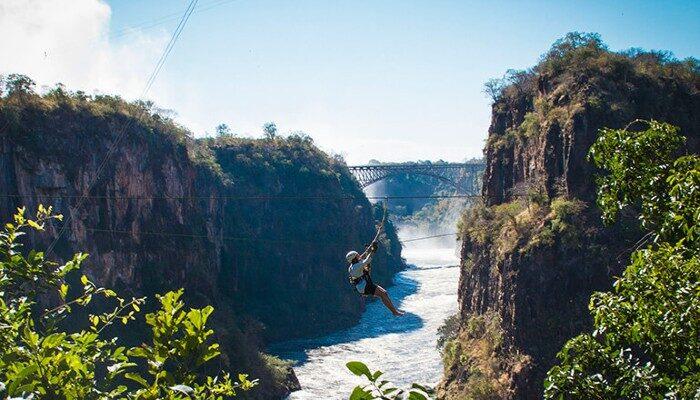 Zip Lining at Batoka Gorge