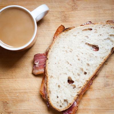 Tea and a bacon sandwich