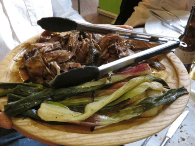 A platter of grass-fed hogget from the evening, credit: Pasture For Life Association
