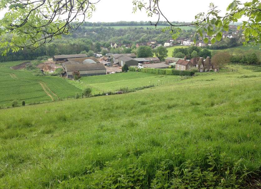 View of Court Farm from Greensand ridge