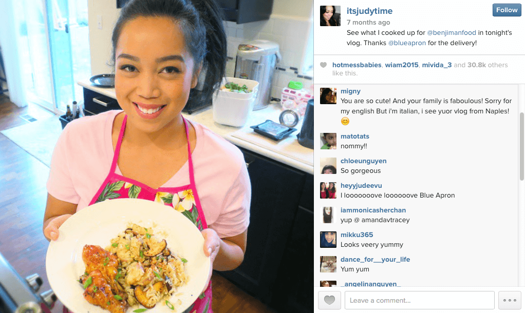 Instagram-Influencer-Its-Judy-Time-For-Blue-Apron-