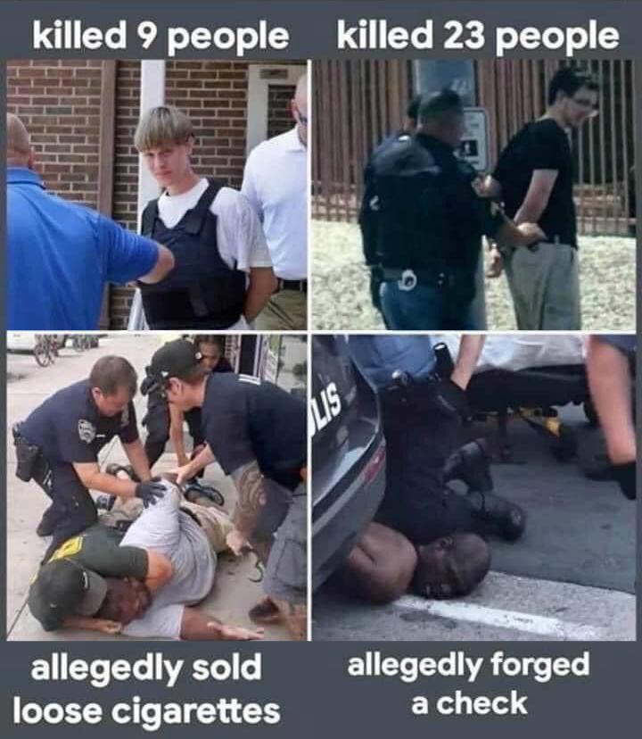 White vs black arrests