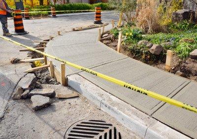 Curb and Sidewalk Install