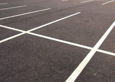 Striped New Parking Lot