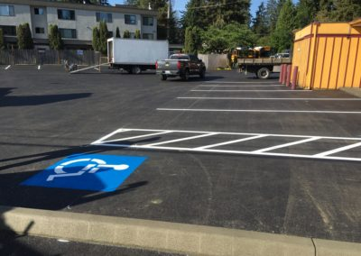 Parking Lot Overlay, Stripe, and Curb