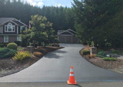 Large Asphalt Driveway