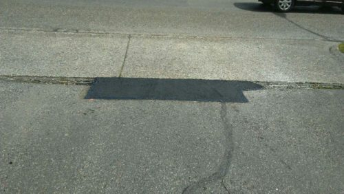 Pot Hole Repair at Whistle Workwear in Tacoma