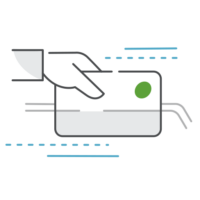 Green - credit card icon