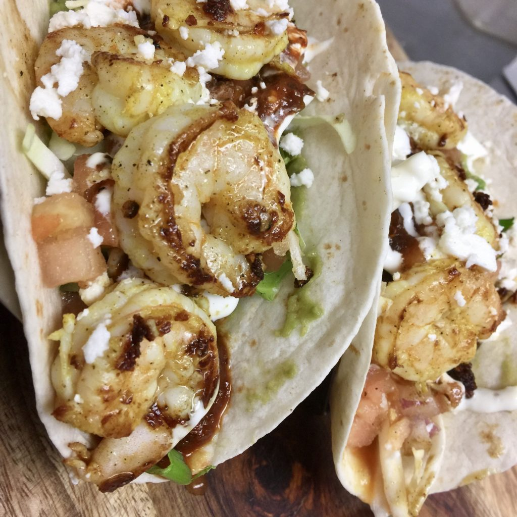 little pub yucatan shrimp tacos