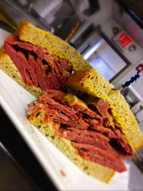 little pub corned beef sandwich
