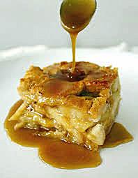 Little Pub N'awlins Bread Pudding With Sugared Bourbon Sauce