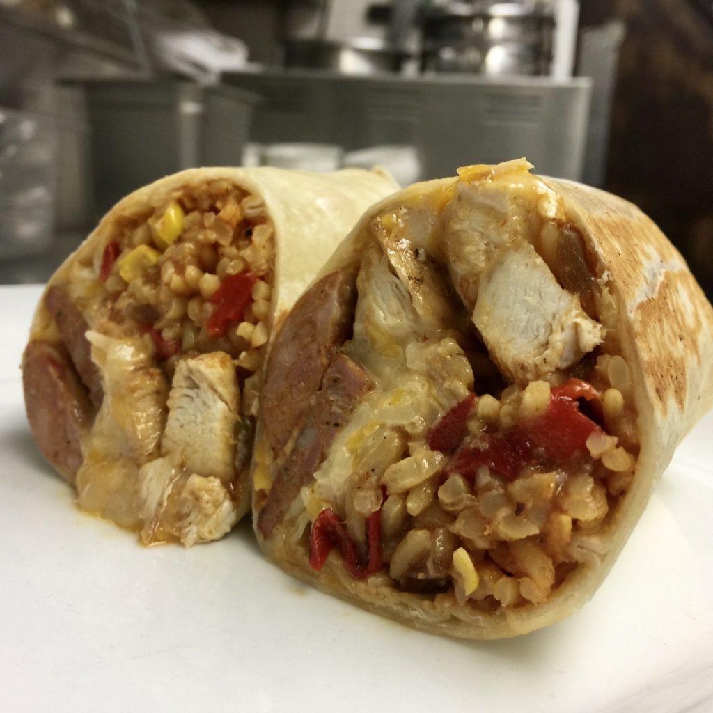 Little Pub Jambalaya Burrito