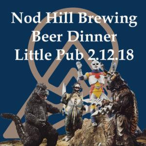 little pub nod hill beer dinner