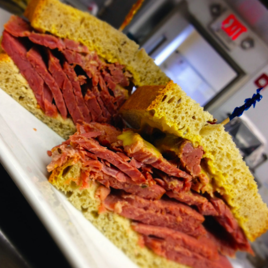 corned beef at little pub