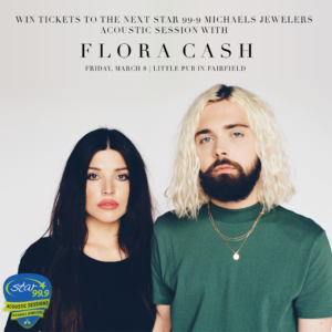 Swedish-American indie pop duo Flora Cash is playing Little Pub on Friday March 9.