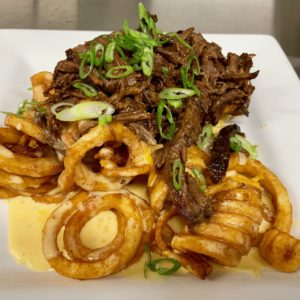 short n curly fries at little pub