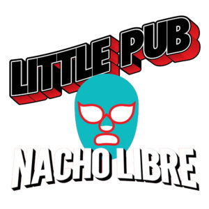 Little Pub Nacho Taco Tots. Crispy tater tots smothered in creamy nacho cheese sauce topped with ground beef, shredded lettuce, pico de gallo, and cilantro lime spiked sour cream