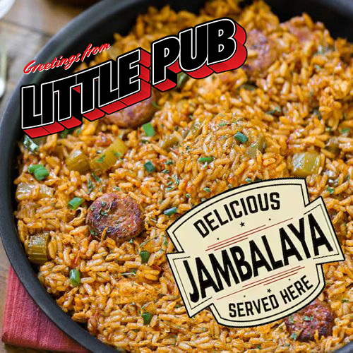 "Let the good times roll with this N'Awlins Creole Classic: 5 servings of Andouille and Chicken Jambalaya, Creole style ""dirty rice"" loaded with red beans"
