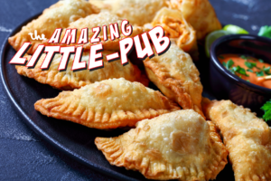 Weekend Specials at Little Pub DipSticks® Creamy spinach dip tucked inside crunchy egg roll wrappers BuffaChicky Empanadas Crispy buffalo chicken empanadas served with a blue cheese dip Filet Mignon Shish Kebab Filet mignon, onions, and peppers skewers over a pile of cilantro-lime rice