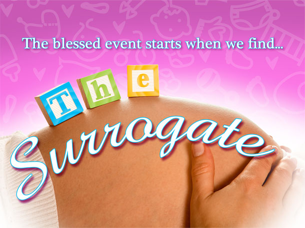 Title card for TV reality show for The Surrogate