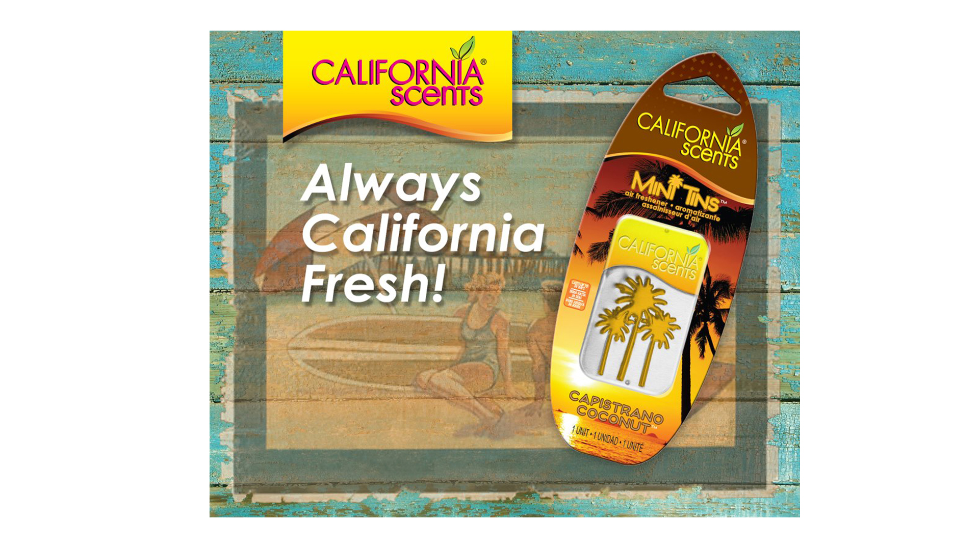 California Scents, consumer  air freshener product Social Media content
