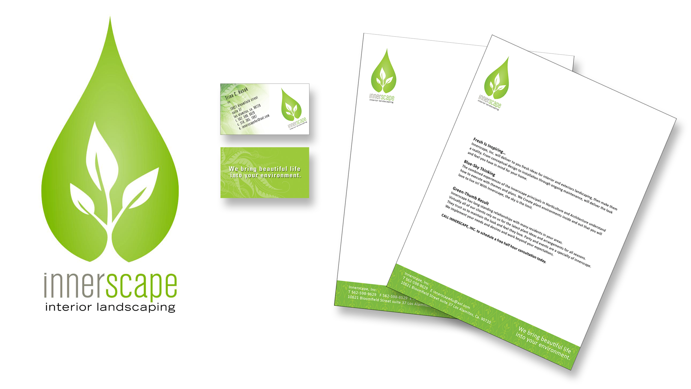 Brand ID package for Innerscape Landscapers.