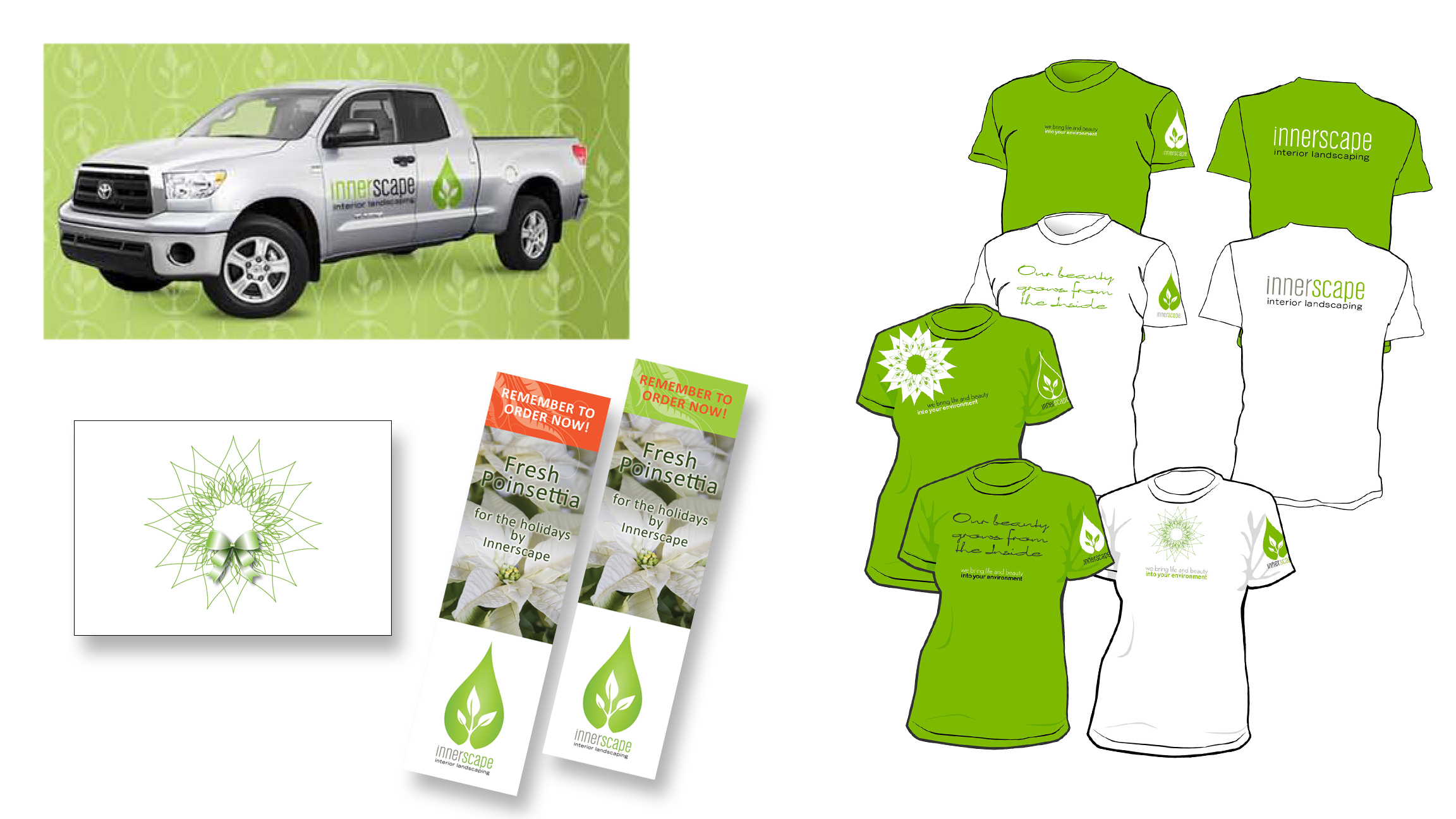 Brand ID for Innerscape Landscapers.