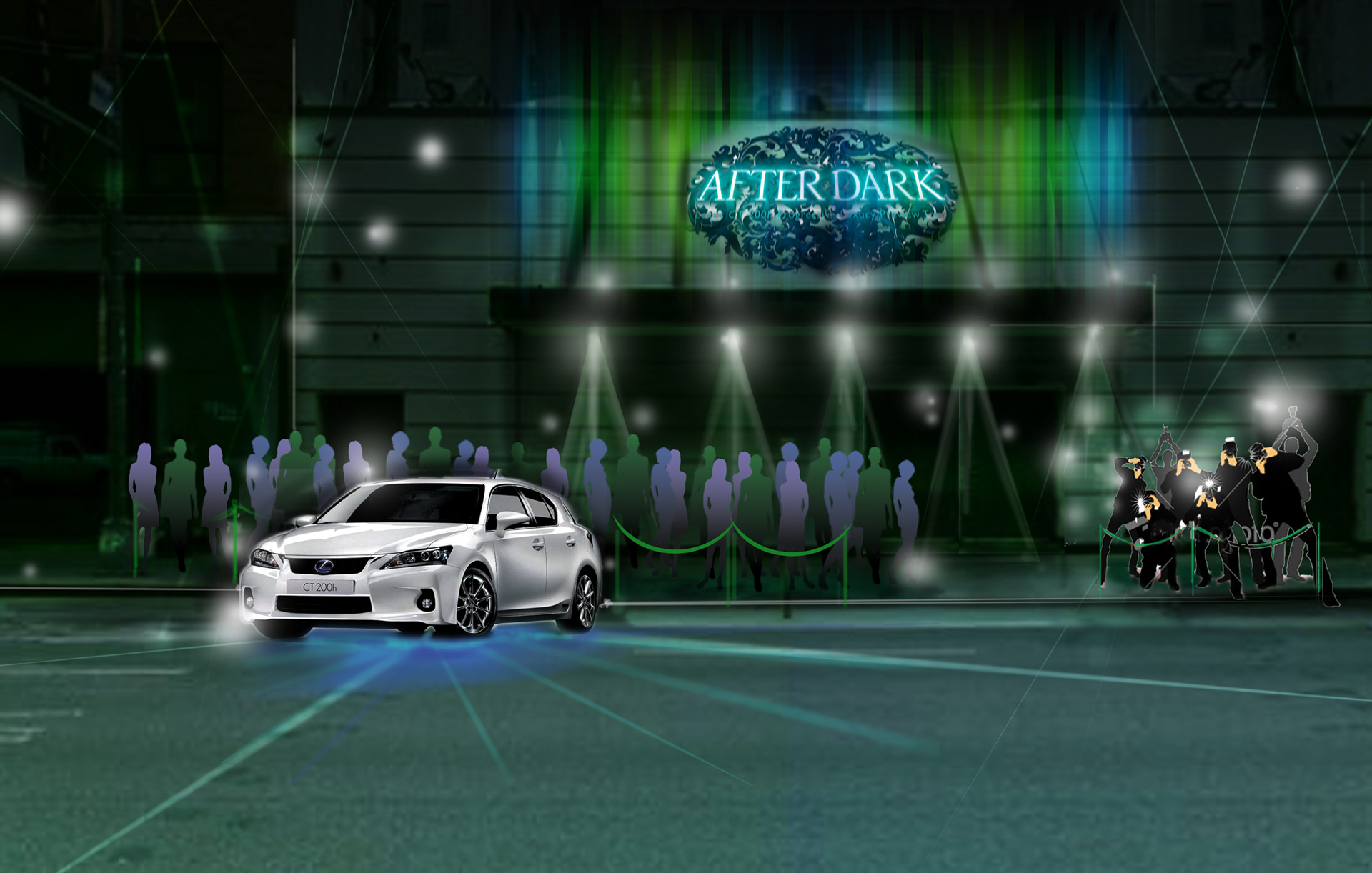 Concept Illustration for Lexus CT200h Nighttime events