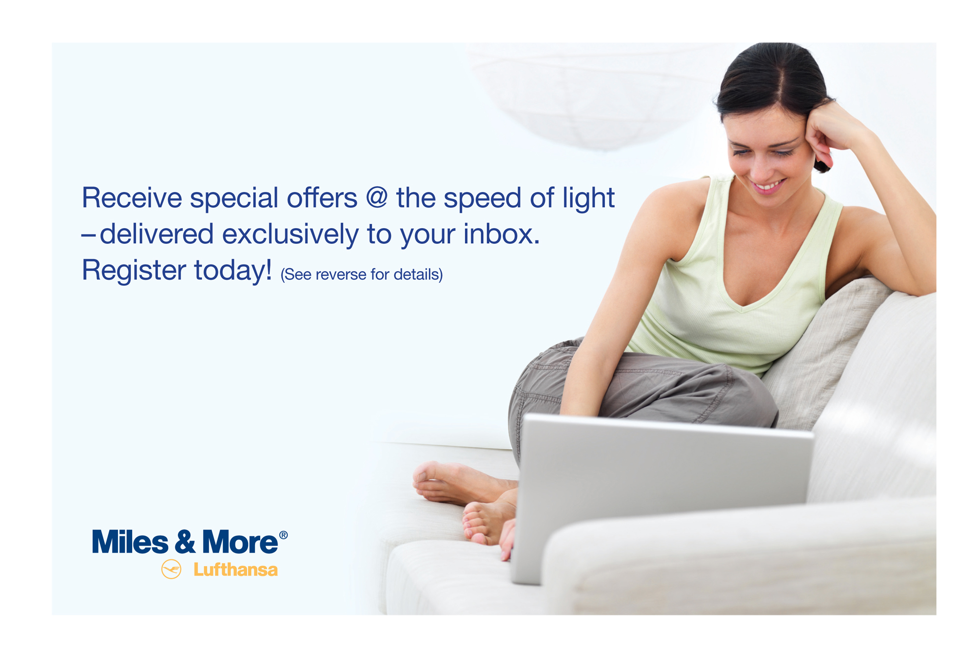 Lufthansa Miles & More Special Offer Registration Direct Mail