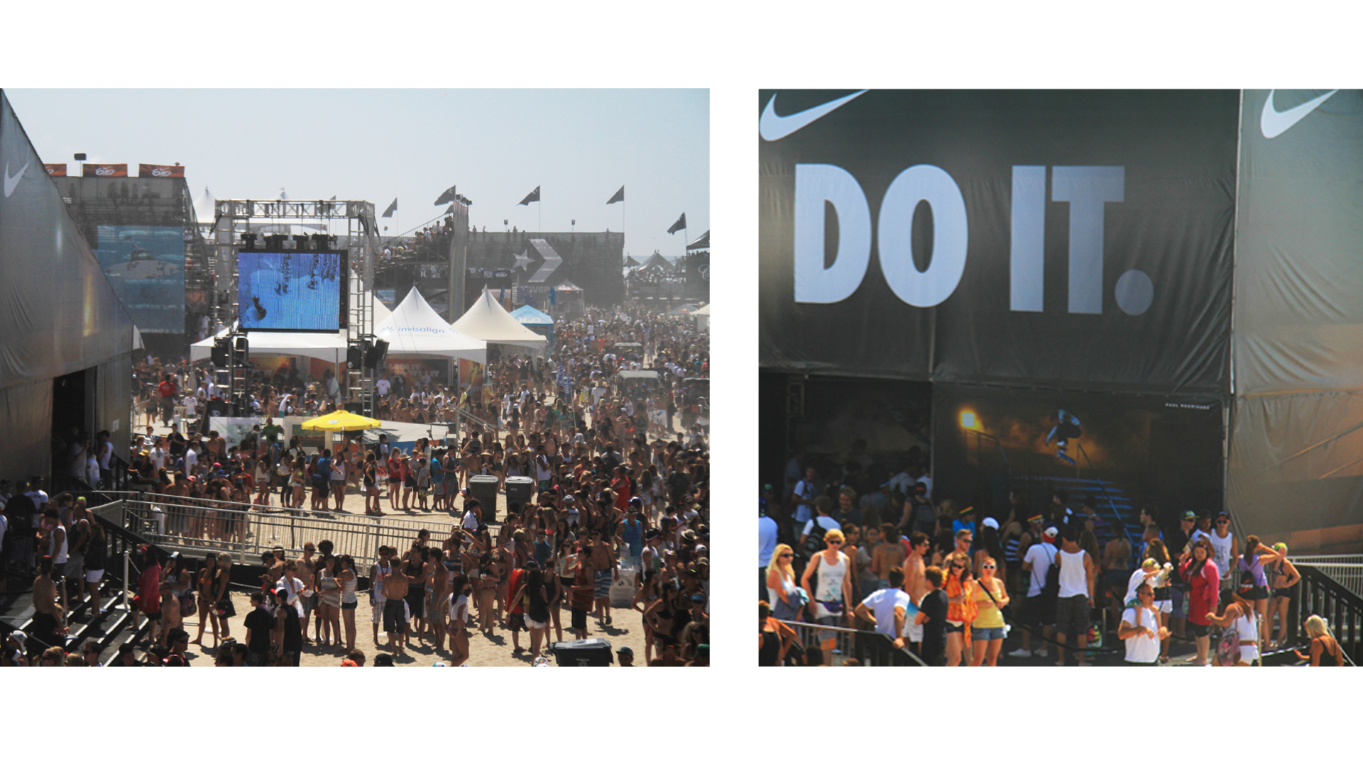 NIKE U.S. Open Surfing Beach Event. Product and display activation.