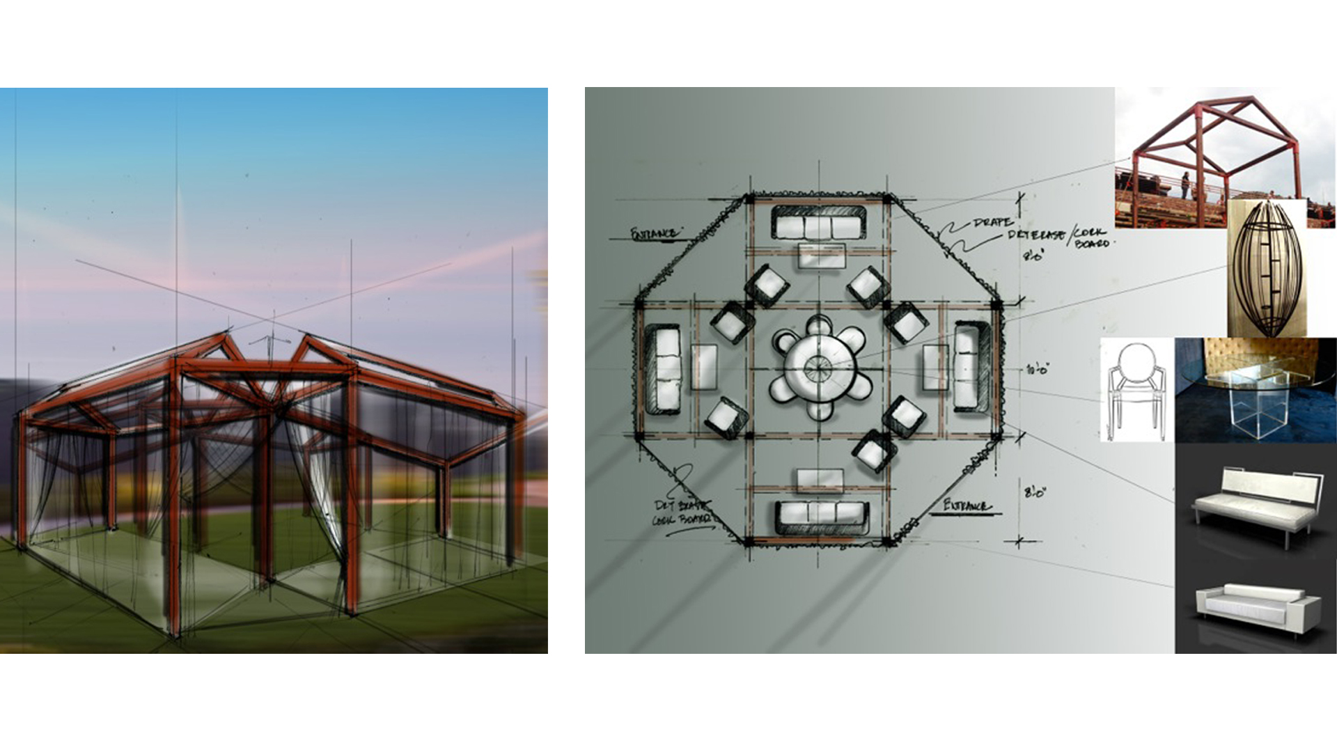 Concept illustration image of XPize Foundation 4 Day Event, outdoor think tank modules.