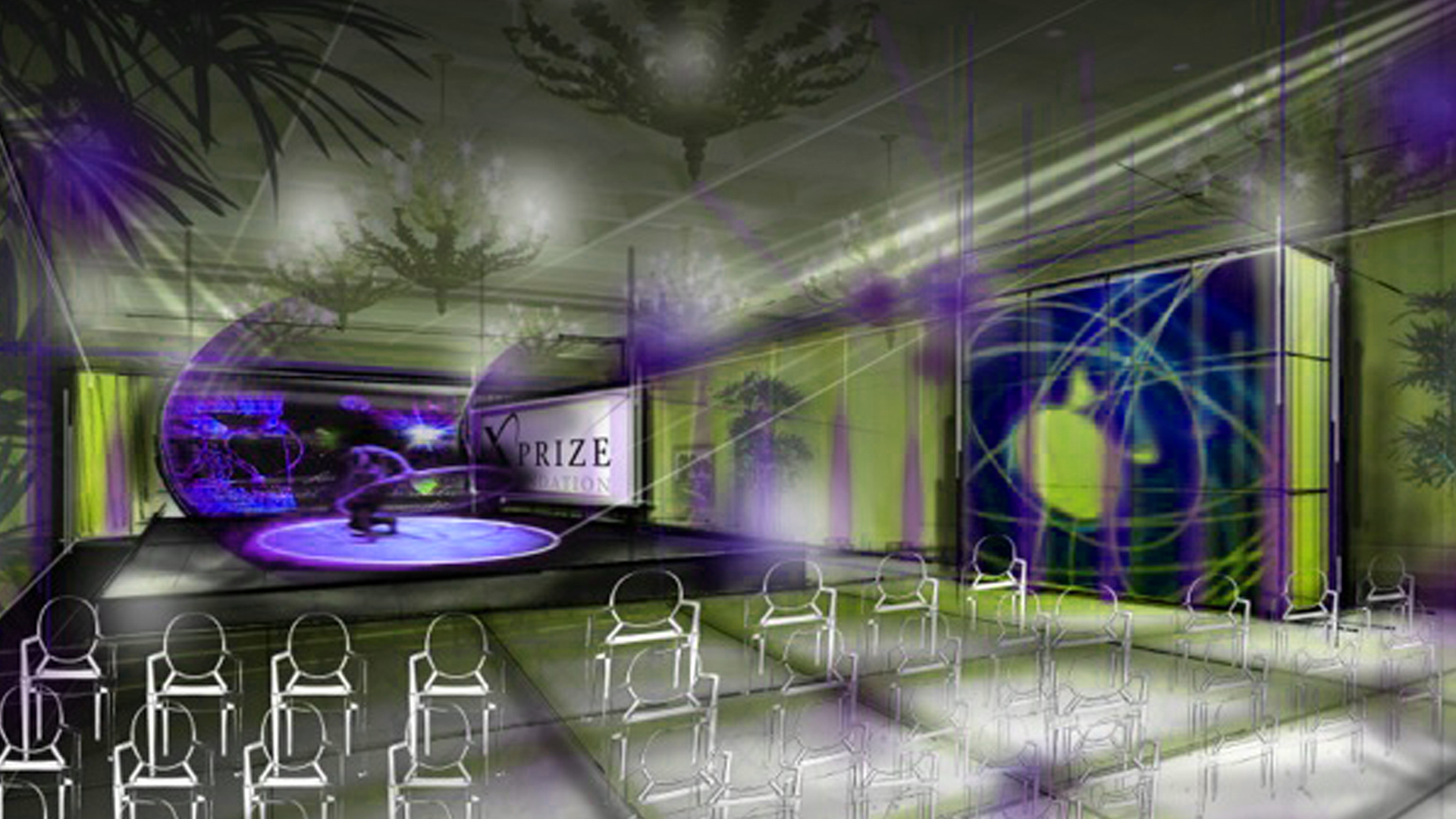 Concept illustration for XPize Foundation 4 Day Event Think Tank live opening night ceremony
