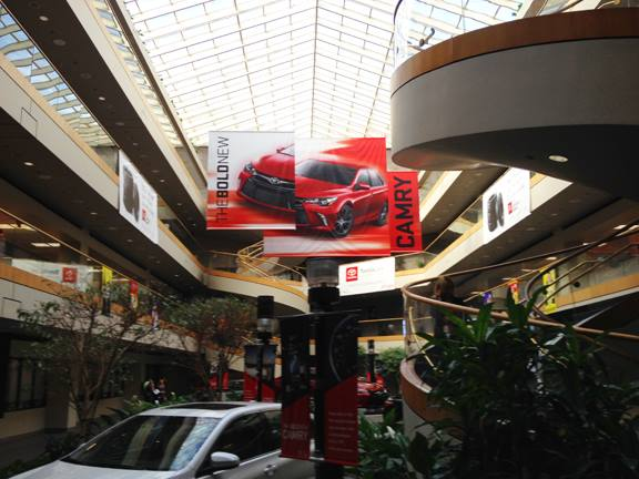NEW 2015 Toyota Camry Launch Inside Building Banner Program concept  for Toyota Corporate