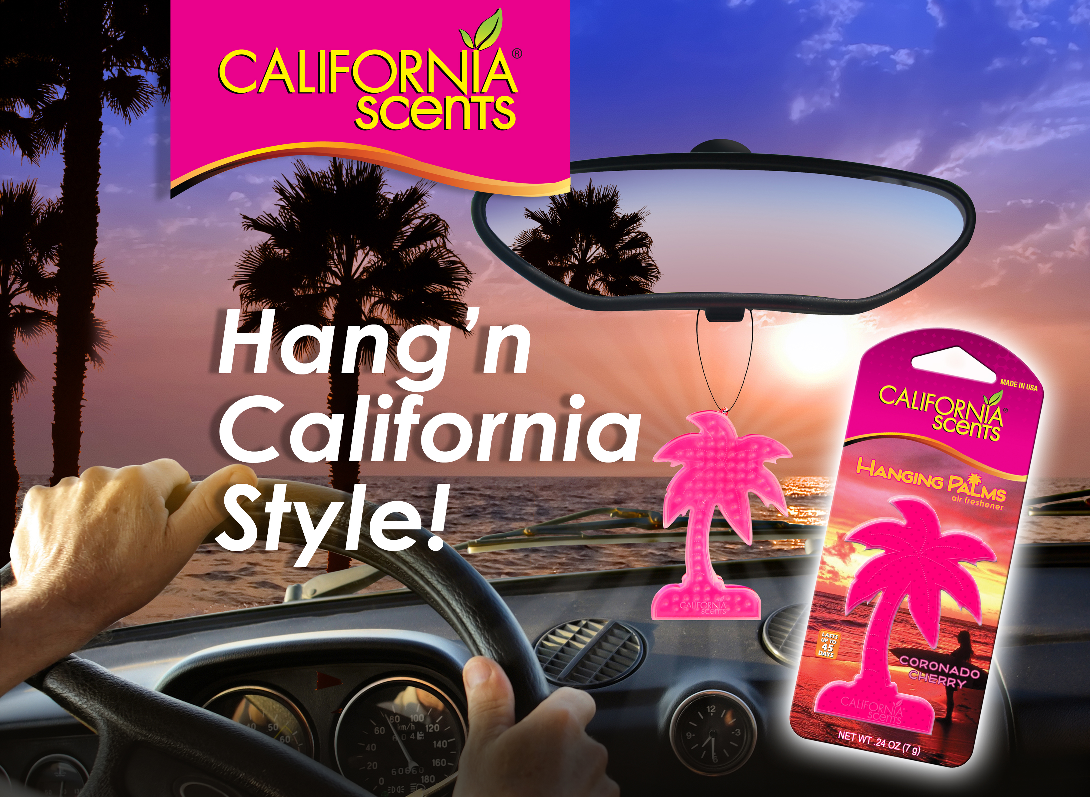 California Scents Air Freshener Product and Packaging