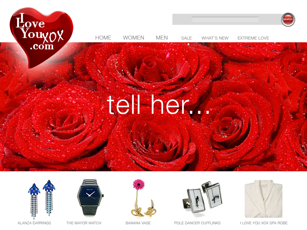 I Love YouXOX is an online products store.