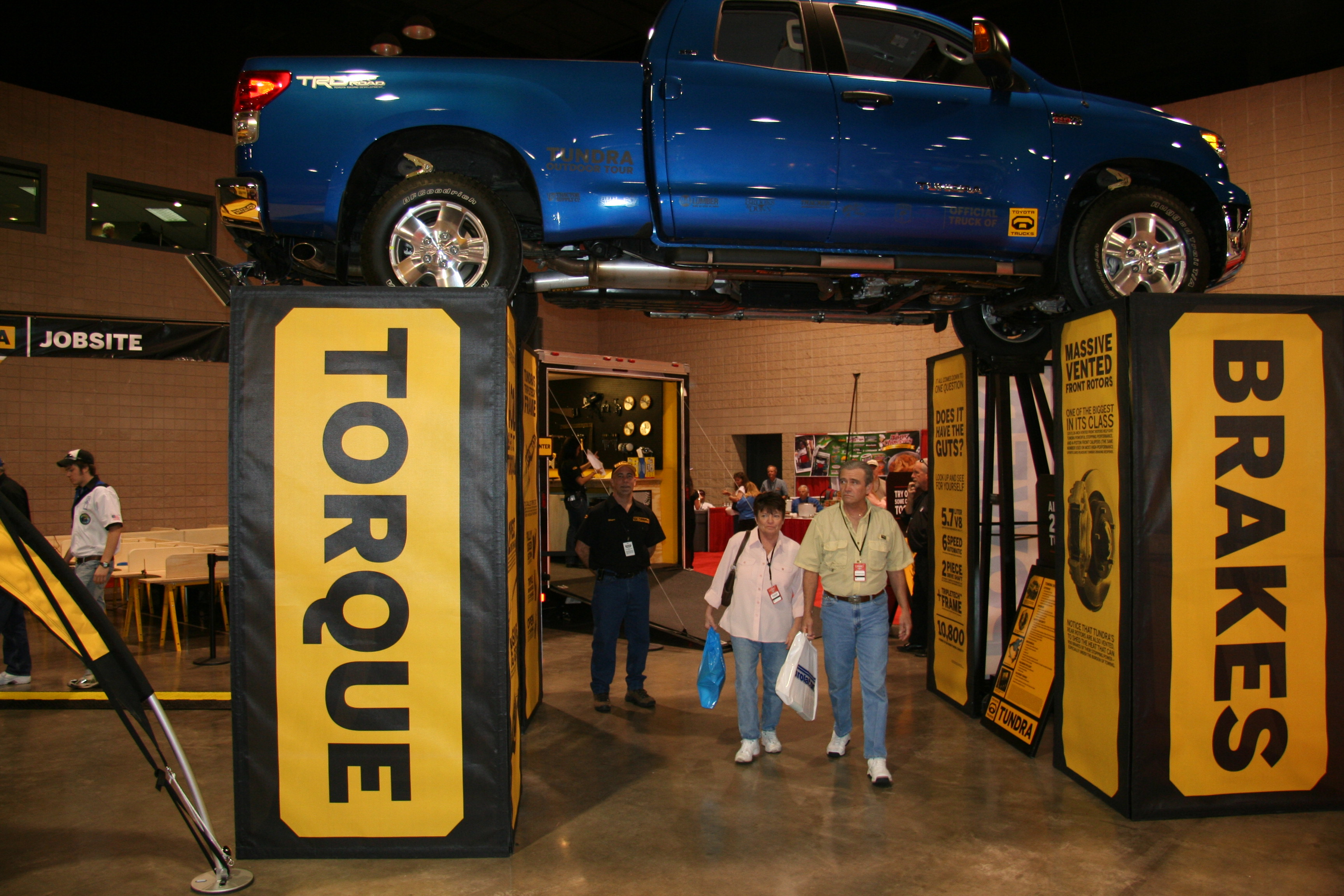 Toyota Tundra Outdoor Tour Truck Lift Activation
