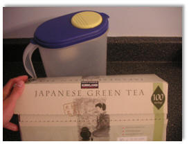 A box of Japanese green tea