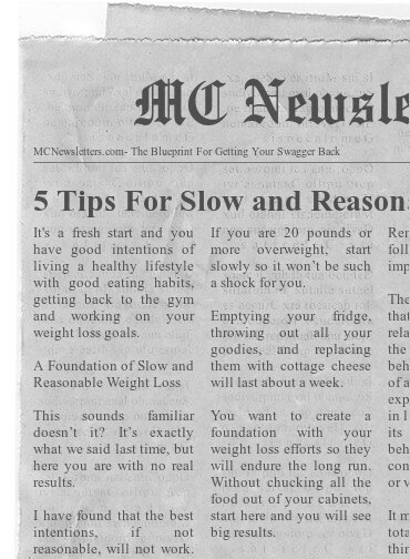 5 Tips For Slow and Reasonable Weight Loss