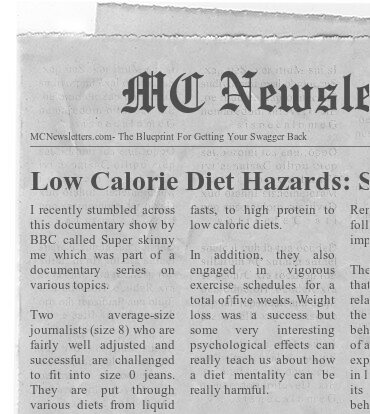Low Calorie Diet Hazards: SUPER SKINNY ME
