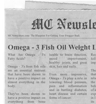 Omega - 3 Fish Oil Weight Loss and Health Benefits