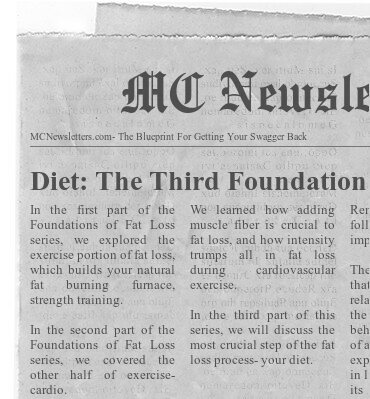 Diet: The Third Foundation of Fat Loss