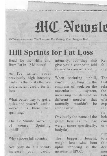 Hill Sprints for Fat Loss