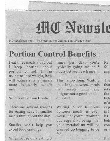 Portion Control Benefits
