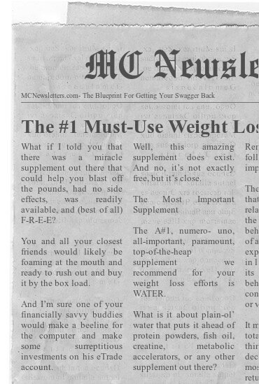 The #1 Must-Use Weight Loss Supplement: WATER!