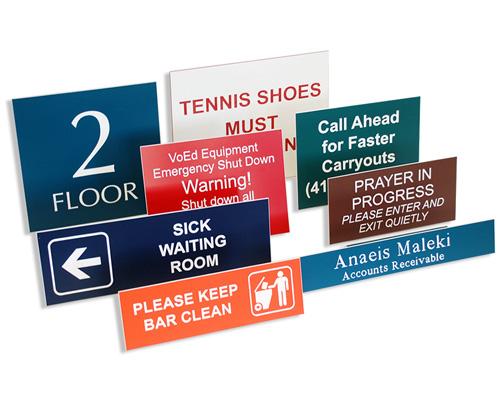 Custom Plastic Signs