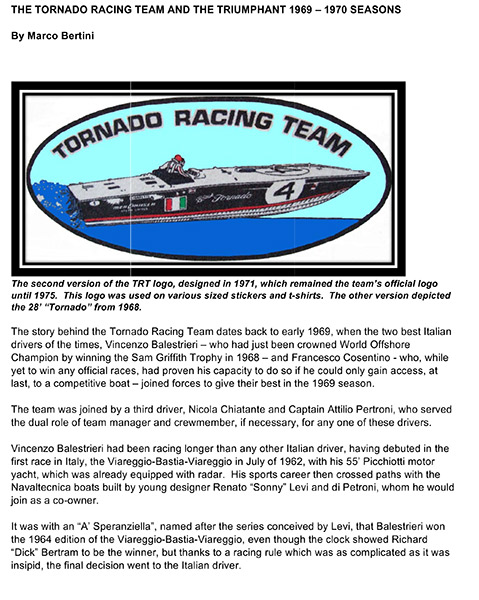 Tornado Racing Team - English
