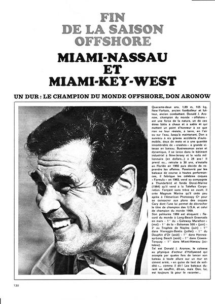 Miami-Nassau et Miami - Key West